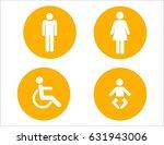 toilet sign  | Shutterstock . vector #631943006