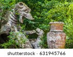 ancient sculptures at famous... | Shutterstock . vector #631945766