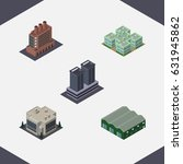 isometric building set of... | Shutterstock .eps vector #631945862