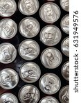 Small photo of metallic cans top view. pattern can from beer or soda flat lay. steel background. recycling concept. drink bar at wedding reception