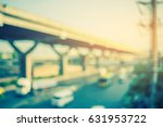 vintage tone image of blur bus... | Shutterstock . vector #631953722