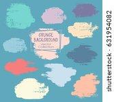 grunge brush stroke backgrounds ... | Shutterstock .eps vector #631954082