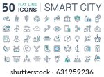 set line icons in flat design... | Shutterstock . vector #631959236