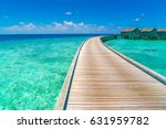 beautiful water villas in... | Shutterstock . vector #631959782