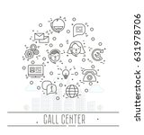 support service icons set  ... | Shutterstock .eps vector #631978706