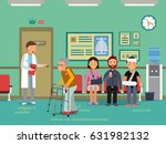 patients and disabled peoples... | Shutterstock .eps vector #631982132