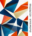 3d modern triangle low poly... | Shutterstock .eps vector #631985966