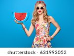 fashion beauty woman in summer... | Shutterstock . vector #631993052