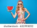 fashion beauty woman in summer... | Shutterstock . vector #631993052