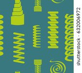 seamless pattern with springs... | Shutterstock .eps vector #632006972