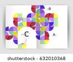modern business brochure or... | Shutterstock .eps vector #632010368