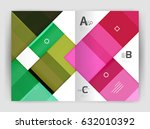squares and rectangles a4... | Shutterstock .eps vector #632010392