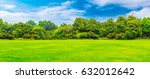 park lawn and green forest | Shutterstock . vector #632012642
