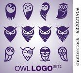 owl logo set 2 | Shutterstock .eps vector #632021906