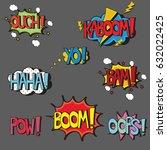 Set Of Comic Style Pop Art...