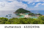 tropical paradise on the island ... | Shutterstock . vector #632024546