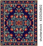 oriental floral ornament.... | Shutterstock .eps vector #632026802