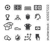 indoor soccer icons   Shutterstock .eps vector #632027222