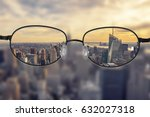 clear cityscape focused in... | Shutterstock . vector #632027318