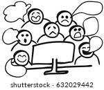 computer gossip   Shutterstock .eps vector #632029442