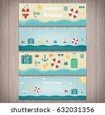 summer holidays banner... | Shutterstock .eps vector #632031356