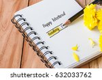 soft focus photo of pencil with ... | Shutterstock . vector #632033762