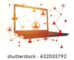 social networking technologies...   Shutterstock . vector #632033792