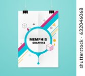 memphis style cover or flyer... | Shutterstock .eps vector #632046068