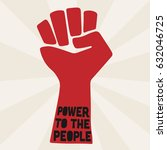 power to the people. | Shutterstock .eps vector #632046725