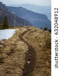 a snowy mountain landscape of... | Shutterstock . vector #632048912