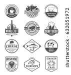 vector food and drink logo   Shutterstock .eps vector #632051972