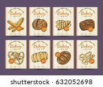 collection of posters with...   Shutterstock .eps vector #632052698