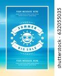 summer sale banner shopping on... | Shutterstock .eps vector #632055035