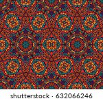 abstract geometric mosaic... | Shutterstock . vector #632066246