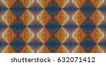 ethnic boho tribal seamless... | Shutterstock . vector #632071412