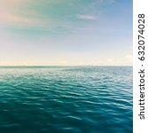 sea landscape deep sea in sunny ... | Shutterstock . vector #632074028