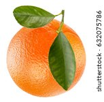 orange isolated on a white... | Shutterstock . vector #632075786