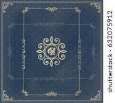 vector calligraphic design... | Shutterstock .eps vector #632075912