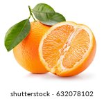 oranges isolated on a white... | Shutterstock . vector #632078102