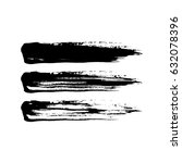 grunge paint brush stroke set.... | Shutterstock .eps vector #632078396