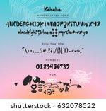 kahaluu handwritten script font.... | Shutterstock .eps vector #632078522