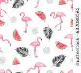 seamless tropical trendy... | Shutterstock .eps vector #632080562