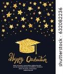 graduation party. vector... | Shutterstock .eps vector #632082236