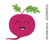 beet with leaves icon. red... | Shutterstock .eps vector #632084522