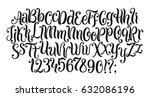 handwritten lettering vector... | Shutterstock .eps vector #632086196