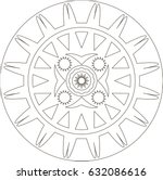 mandala. coloring book pages. | Shutterstock .eps vector #632086616