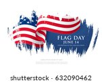 flag day in the united states ... | Shutterstock .eps vector #632090462