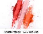 makeup cosmetics. blush crushed ... | Shutterstock . vector #632106605