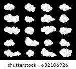 clouds icons | Shutterstock .eps vector #632106926