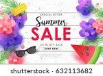 summer sale background layout . ... | Shutterstock .eps vector #632113682